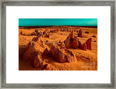 Ten Thousand Years Ago Framed Print by Julian Cook