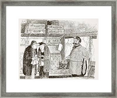 Tendency To Be Embarrassed By Foreign Framed Print by Pont