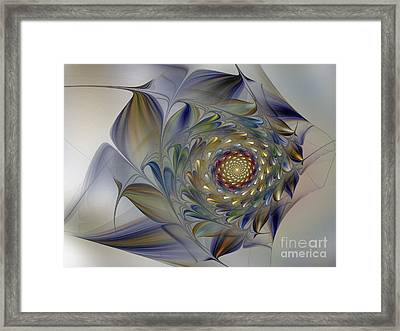 Tender Flowers Dream-fractal Art Framed Print by Karin Kuhlmann