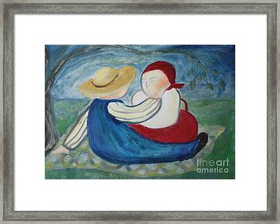 Tenderness Framed Print by Teresa Hutto