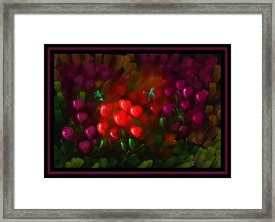 Tending Hearts - Scratch Art Series - # 13 Framed Print by Steven Lebron Langston