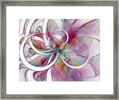 Tendrils 01 Framed Print by Amanda Moore