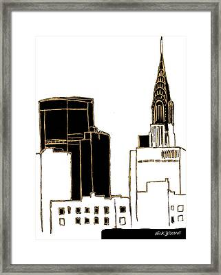 Tenement Empire State Building Framed Print by Nicholas Biscardi