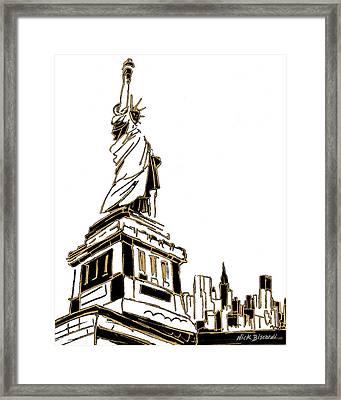 Tenement Liberty Framed Print by Nicholas Biscardi