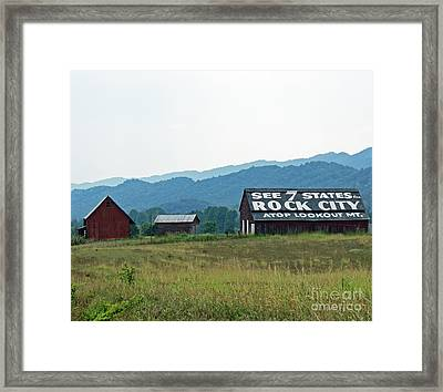 Tennessee Barn Framed Print by Roger Potts
