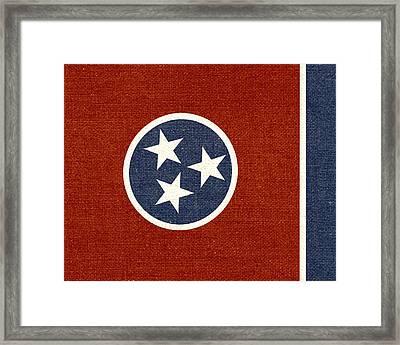 Tennessee State Flag Framed Print by Flo Karp