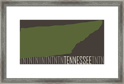Tennessee State Modern Framed Print by Flo Karp
