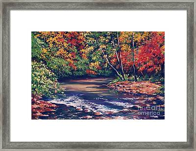 Tennessee Stream In The Fall Framed Print by John Clark