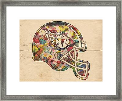 Tennessee Titans Helmet Poster Framed Print by Florian Rodarte