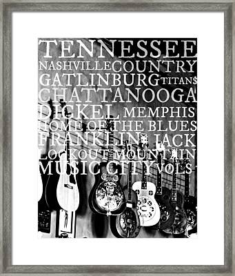 Tennessee Words Sign Framed Print by Chastity Hoff