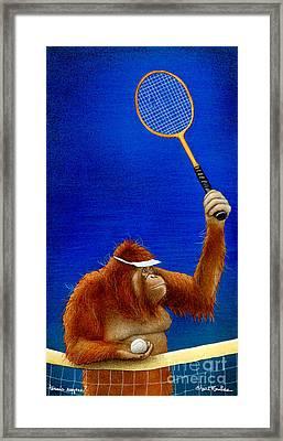 Tennis Anyone... Framed Print by Will Bullas