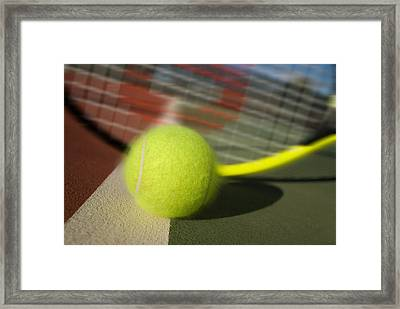 Tennis Ball And Racquet Framed Print by Joe Belanger