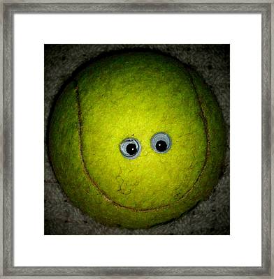 Tennis Ball Framed Print by Donatella Muggianu