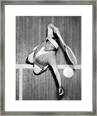 Tennis Champ Sylvia Henrotin Framed Print by Underwood Archives