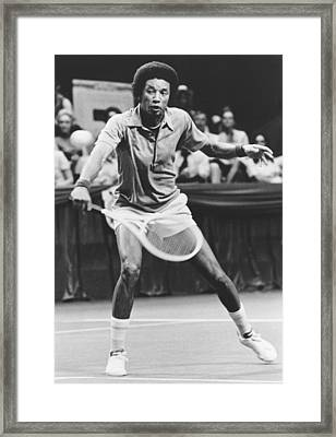 Tennis Champion Arthur Ashe Framed Print by Underwood Archives