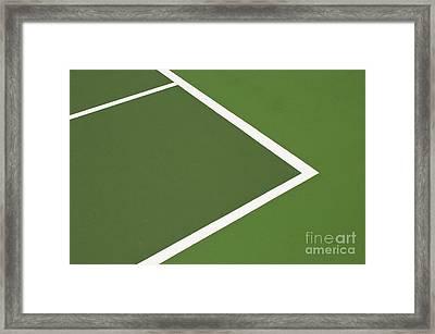 Tennis Court Framed Print by Luis Alvarenga