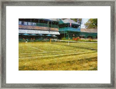 Tennis Hall Of Fame - Newport Rhode Island Framed Print by Michelle Calkins