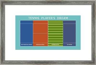 Tennis Player-s Dream Framed Print by Carlos Vieira