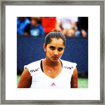 Tennis Player Sania Mirza Framed Print by Nishanth Gopinathan