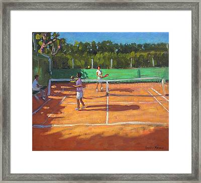 Tennis Practice Framed Print by Andrew Macara