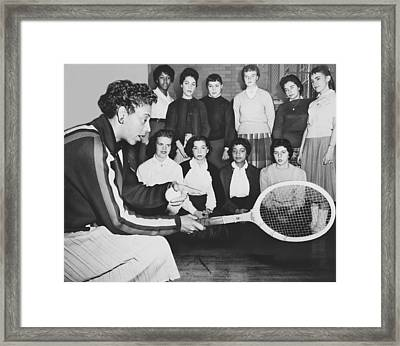 Tennis Star Althea Gibson Framed Print by Ed Ford