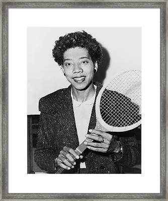 Tennis Star Althea Gibson Framed Print by Fred Palumbo