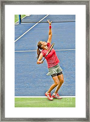 Tennis Star Jamie Hampton Framed Print by Harold Bonacquist