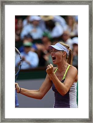 Tennis Star Marija Sharapova Framed Print by Srdjan Petrovic