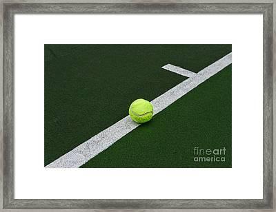 Tennis - The Baseline Framed Print by Paul Ward