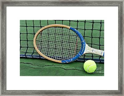 Tennis - Vintage Tennis Racquet Framed Print by Paul Ward