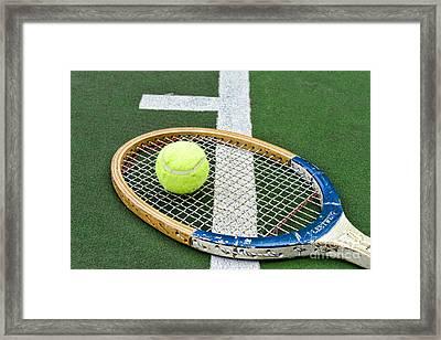Tennis - Wooden Tennis Racquet Framed Print by Paul Ward