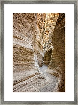 Tent Rocks Slot Canyon 2 - Tent Rocks National Monument New Mexico Framed Print by Brian Harig