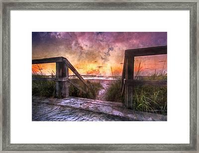 Tequilla Sunrise Framed Print by Debra and Dave Vanderlaan