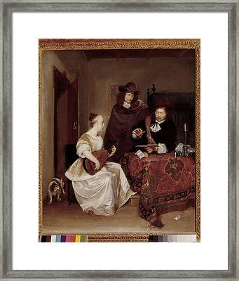 Terborch, Gerard 1617-1681. Woman Framed Print by Everett