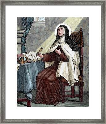 Teresa Of Avila (1515-1582 Framed Print by Prisma Archivo