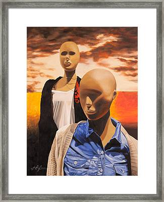Terminal Eyes Framed Print by Karl Melton