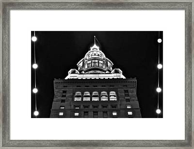 Terminal Tower Black And White Framed Print by Frozen in Time Fine Art Photography