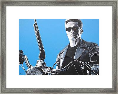 Terminator I'll Be Back Framed Print by Patrick Killian