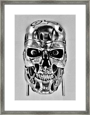 Terminator T-800 Framed Print by Benjamin Yeager