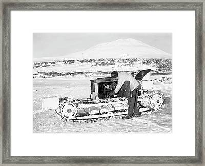 Terra Nova Antarctic Motor Sledge Framed Print by Scott Polar Research Institute