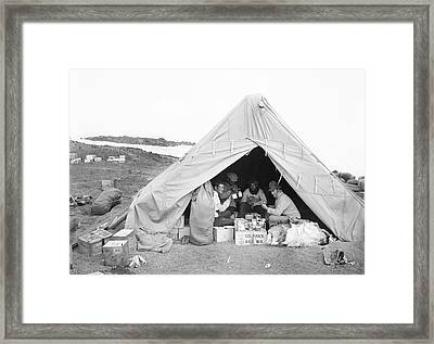 Terra Nova Camp In Antarctica Framed Print by Scott Polar Research Institute