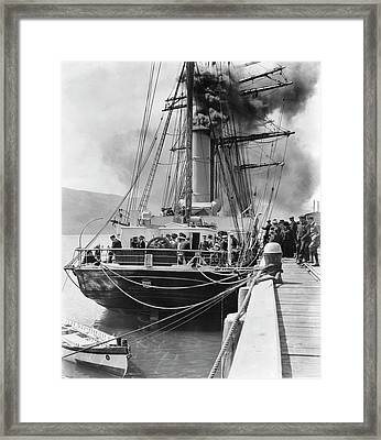 Terra Nova In New Zealand Framed Print by Scott Polar Research Institute