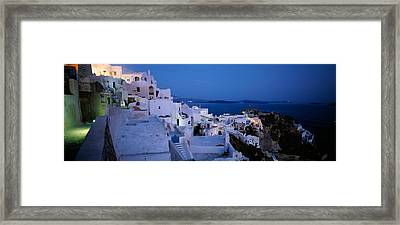 Terrace Of The Buildings, Santorini Framed Print by Panoramic Images