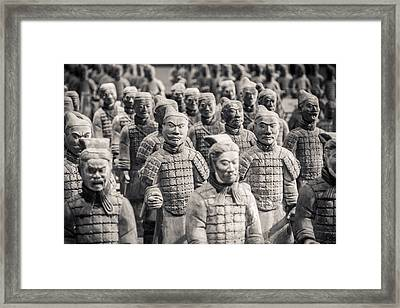 Terracotta Army Framed Print by Adam Romanowicz