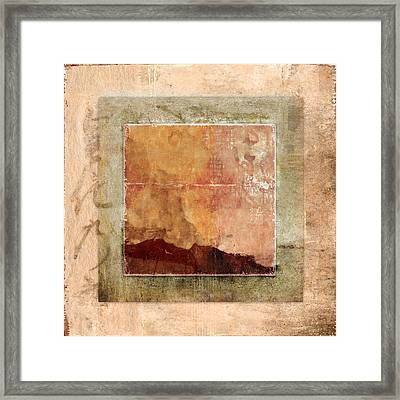 Terracotta Earth Tones Framed Print by Carol Leigh
