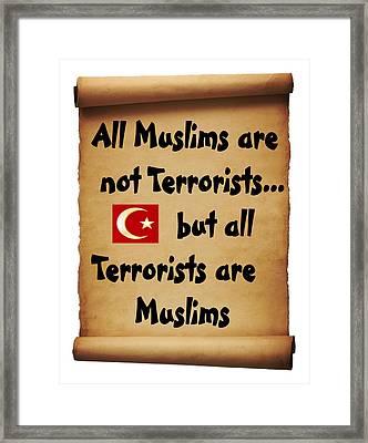Terrorists Framed Print by Bern Hopkins