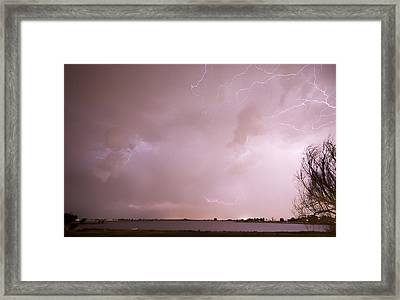Terry Lake Lightning Thunderstorm Framed Print by James BO  Insogna