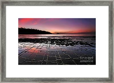 Tesselated Pavement Sunrise Framed Print by Bill  Robinson