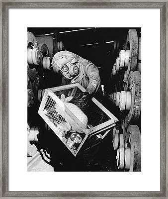Testing For Nerve Gas Framed Print by Library Of Congress