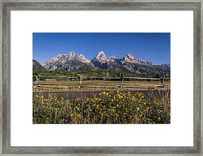 Teton Drive Framed Print by Michael J Bauer